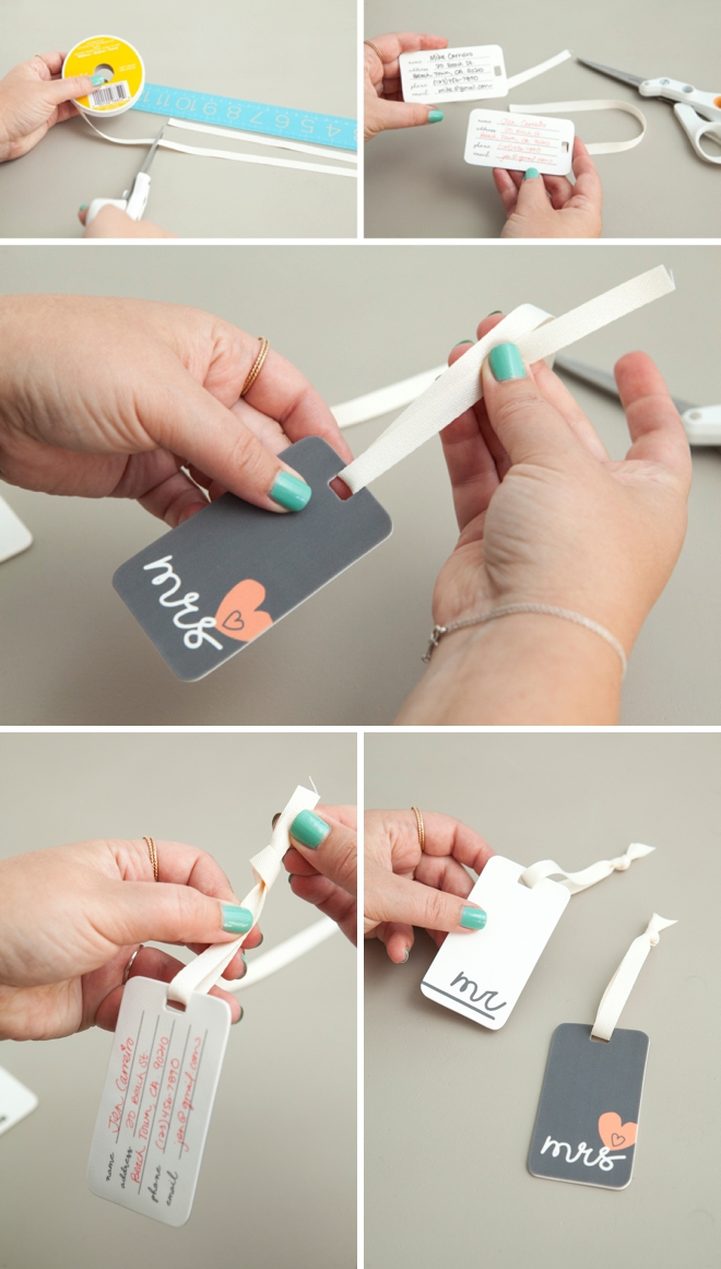 Learn how to make your own luggage tags using shrinky dink film!