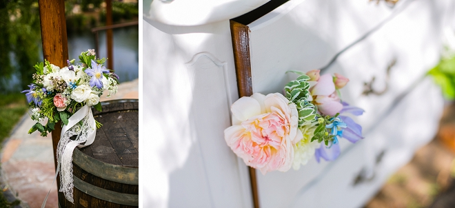 We love the styled dessert bar at this gorgeous engagement session!