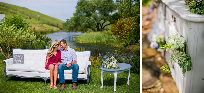 We're swooning over this super romantic mountainside engagement session featuring their horse!