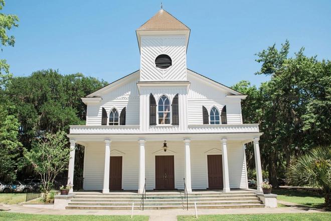 Loving this gorgeous church at this gorgeous DIY wedding!