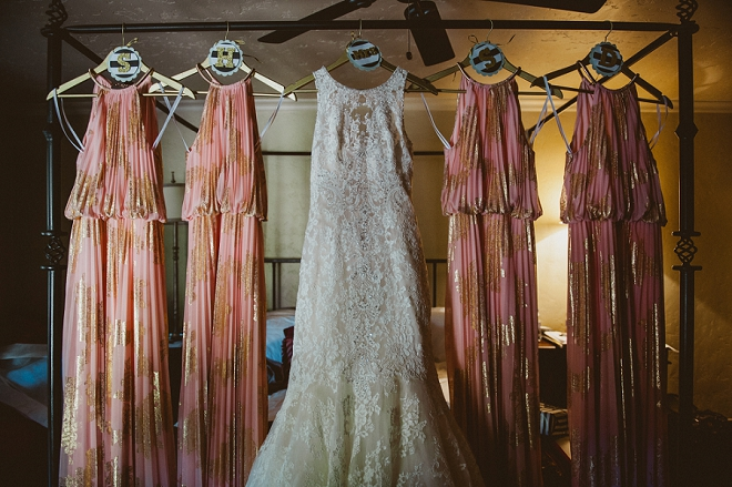 We're loving this gorgeous dress shot and colors for the big day!