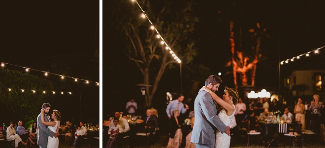 Super sweet snap of the new Mr. and Mrs. first dance!