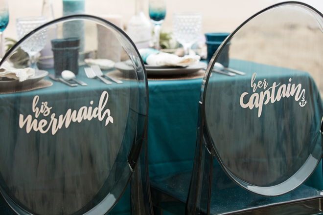 You have to see these AMAZING mermaid wedding chair signs!