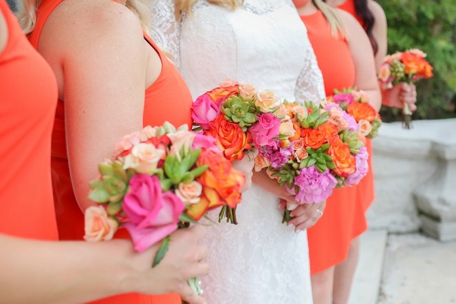 We love these ladies bright and beautiful wedding bouquets!