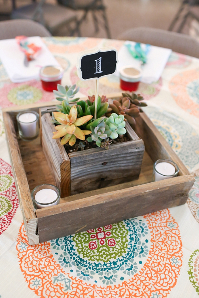 We're loving these gorgeous custom built succulent centerpieces!