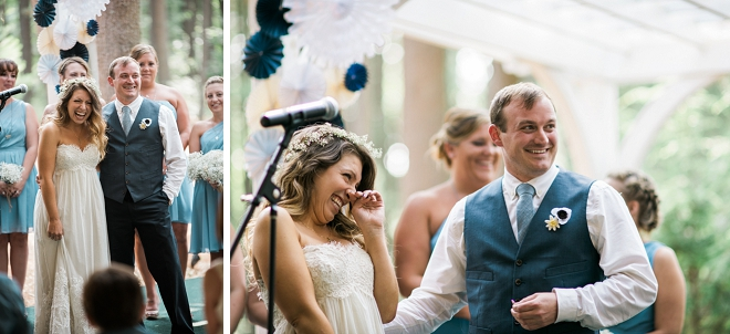 We're in love with this super sweet snap of this couple's big day!