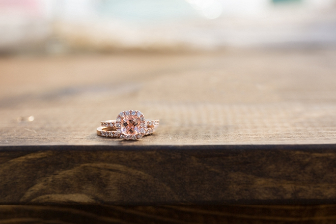 We're dreaming of this gorgeous pink cushion cut engagement ring!