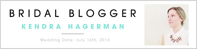 Kendra Hagerman, bridal blogger for Something Turquoise