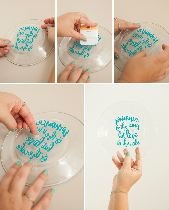Diy Wedding Dishes: Learn How To Customize Your Own Wedding Cake Plate With Vinyl