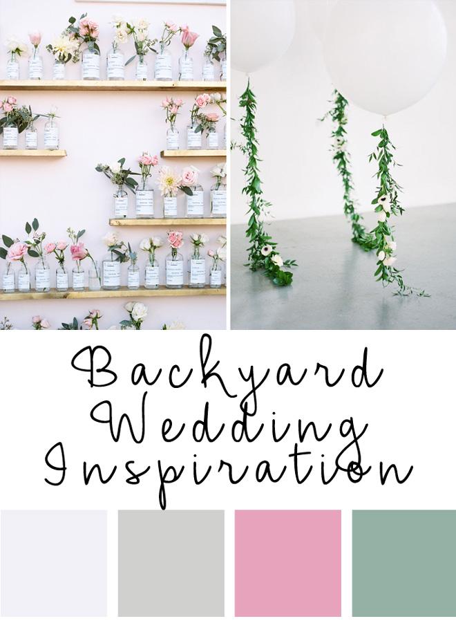Pretty backyard wedding ideas