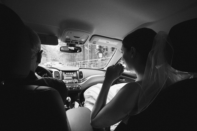 We love this snap of the Bride and her Dad on the way to her first look!