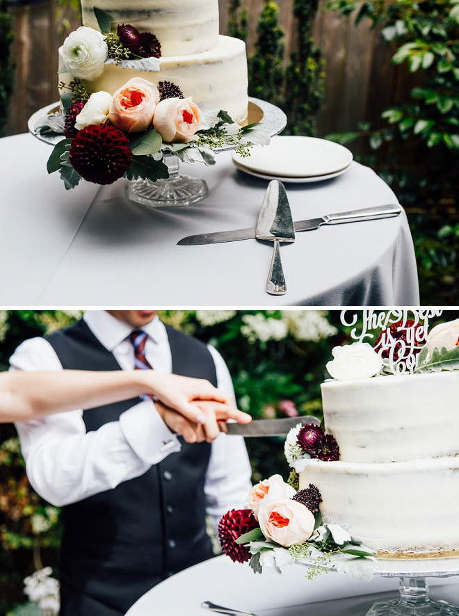 We're in LOVE with this stunning fall wedding cake!