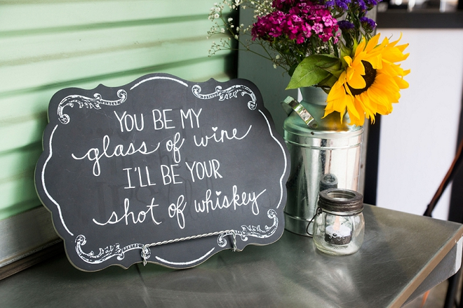 We love this cute rustic sign idea!