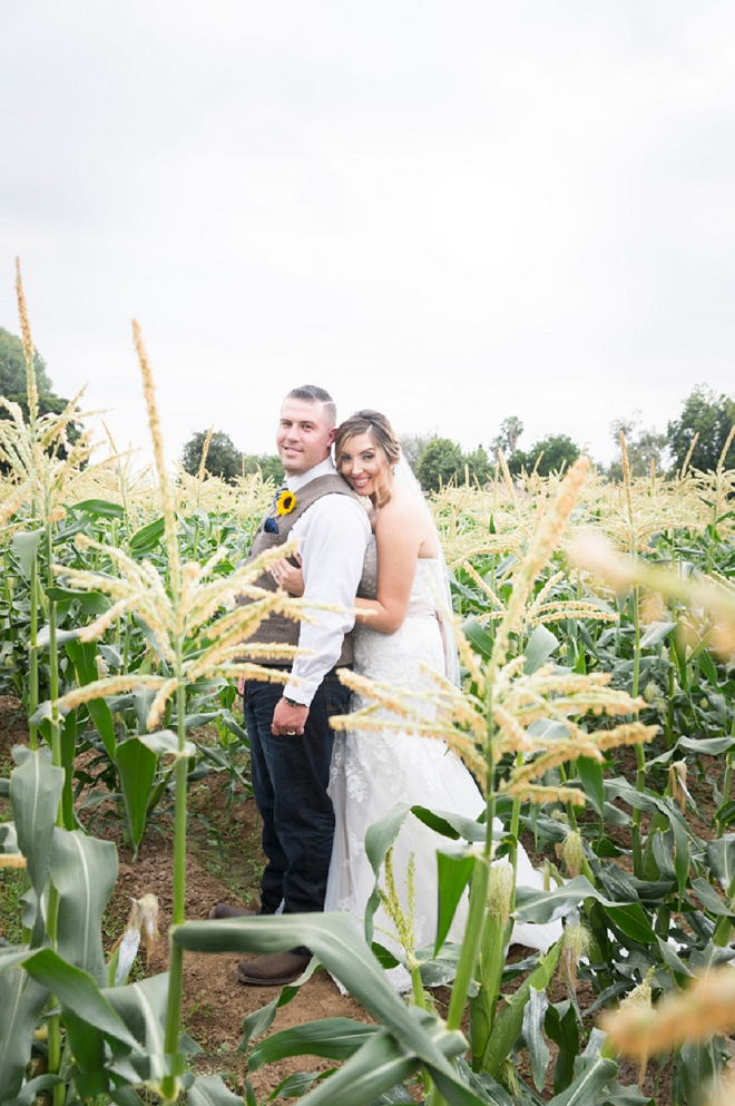 We're crushing on this couple's stunning rustic wedding and sweet photos!