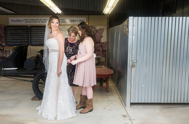 The beautiful bride getting ready for her big day!