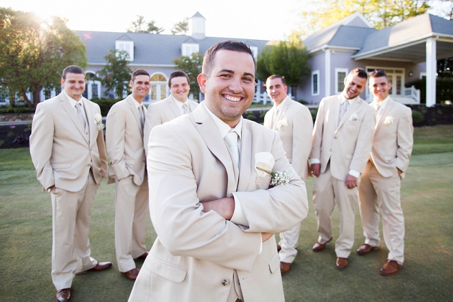 Fun snap of the Groom and his Groomsmen before the ceremony!