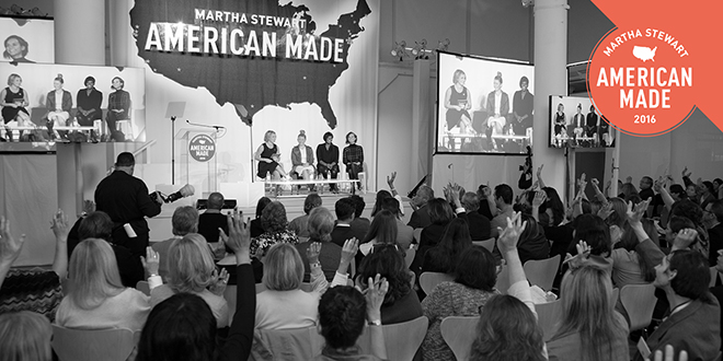 Win a pair of Silver tickets to the 2016 Martha Stewart American Made Event!