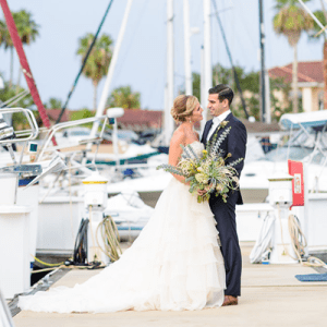 We're in love with this darling styled coastal wedding!