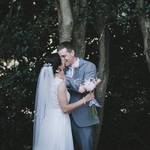 How sweet is this snap of the Bride and Groom after their ceremony? LOVE!