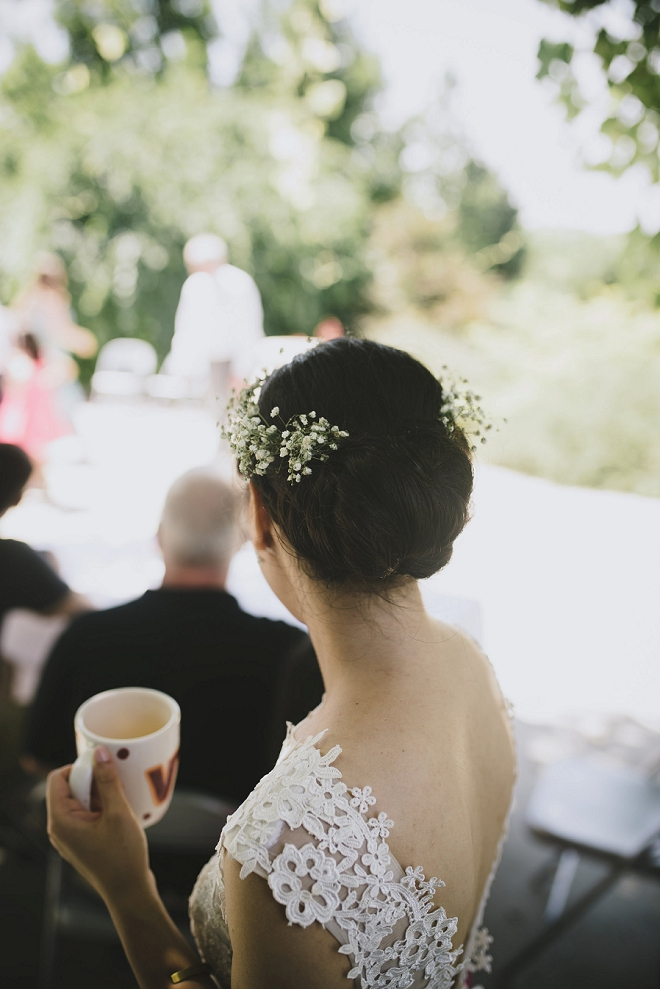 We love this gorgeous shot of the Bride at her reception!