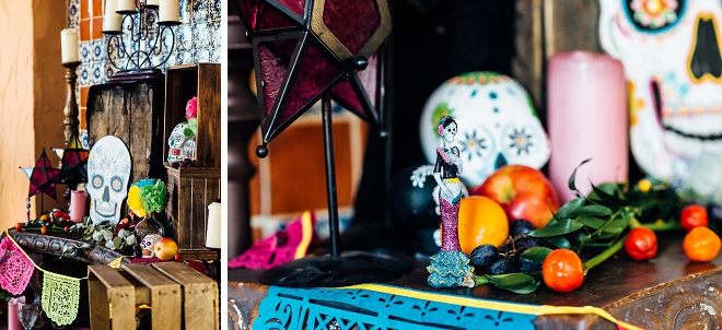 We're loving the decor at this fun Day of the Dead styled shoot!