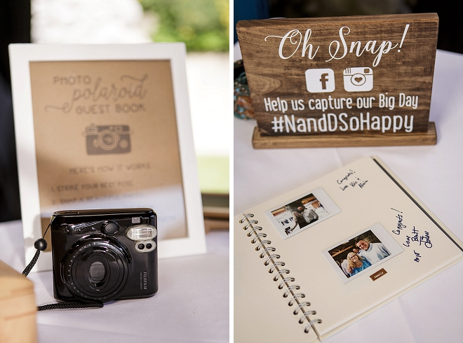 We love this Polaroid guest book idea!