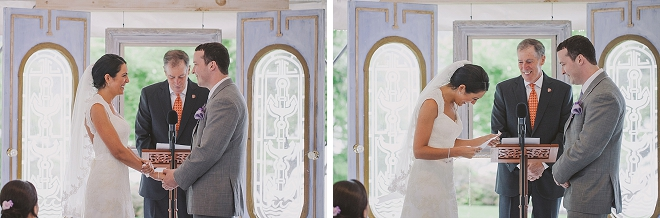 We're crushing on this dreamy rainy lakeside ceremony!