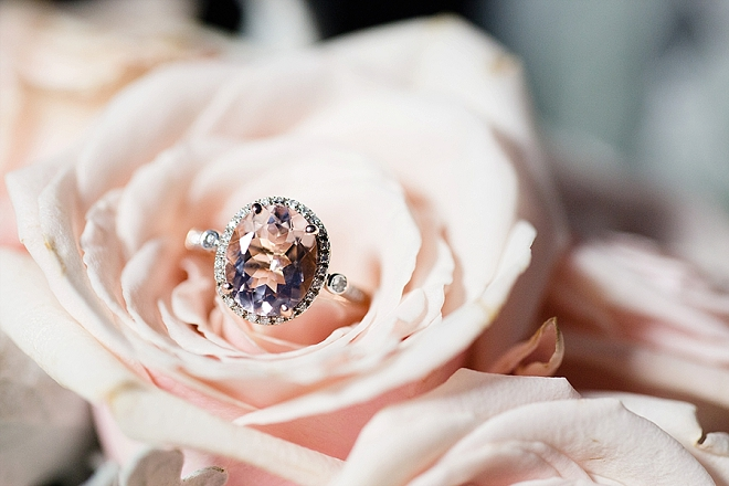 How stunning is this Bride's engagement ring?! Swoon!
