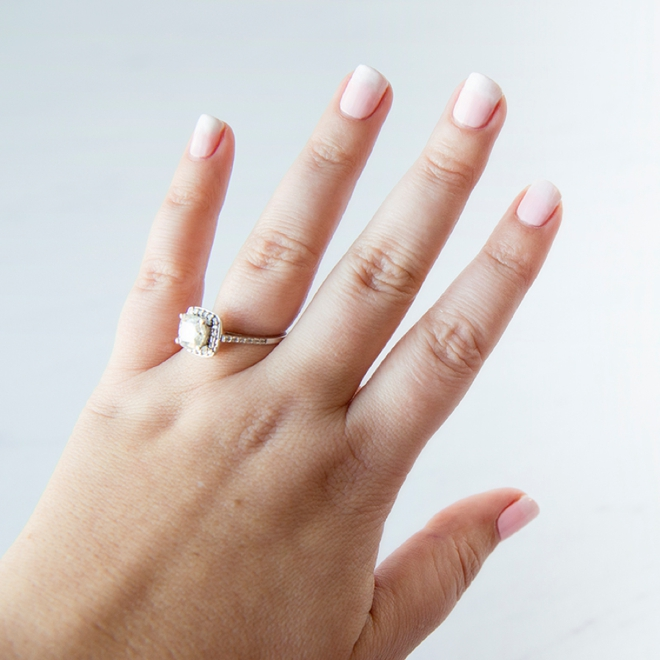 Learn how to create a soft pink ombre for your bridal manicure!