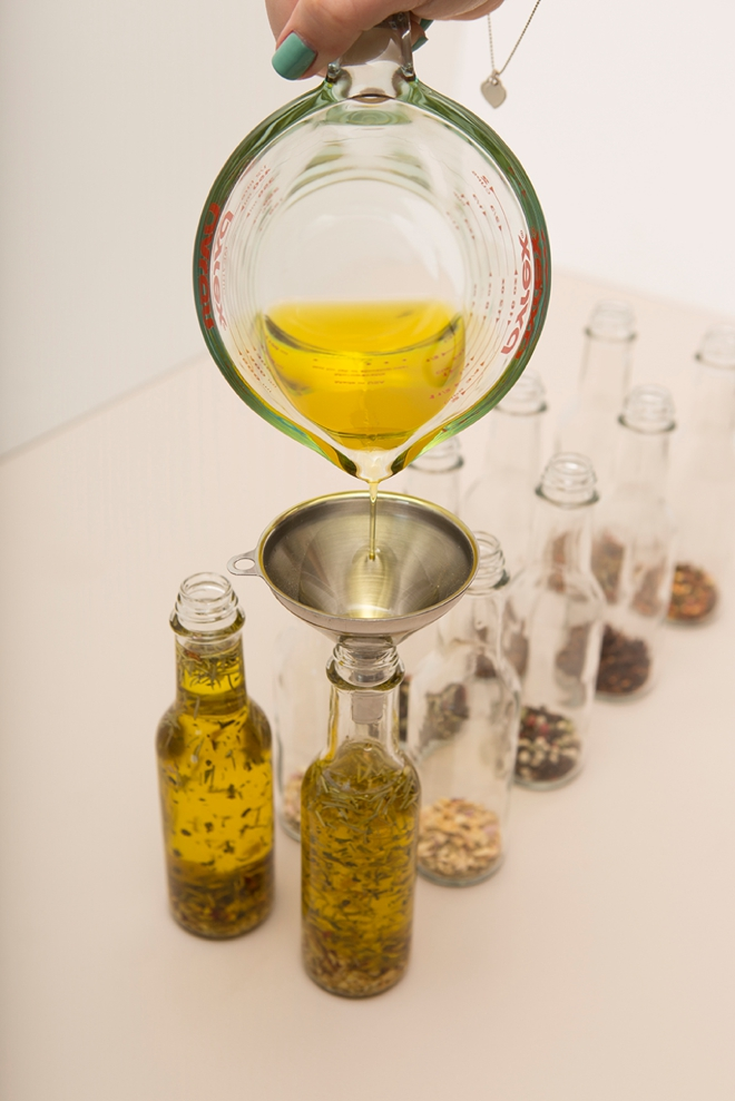 Learn how easy it is to make your own infused olive oil wedding favors!