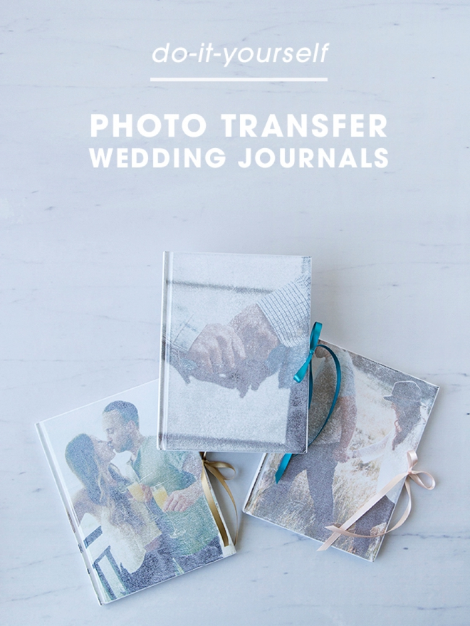 Learn how to make your own photo transfer journal, it only takes a few minutes!