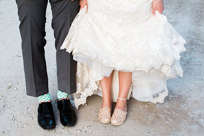 How cute is this snap of the Bride and Groom's shoes?! So cute!