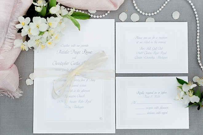 How gorgeous is this couple's invitation suite?!