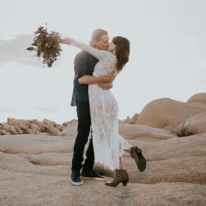 We're in LOVE with this desert engagement session!