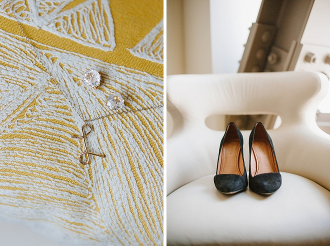 We're loving this Bride's dainty details for the big day!
