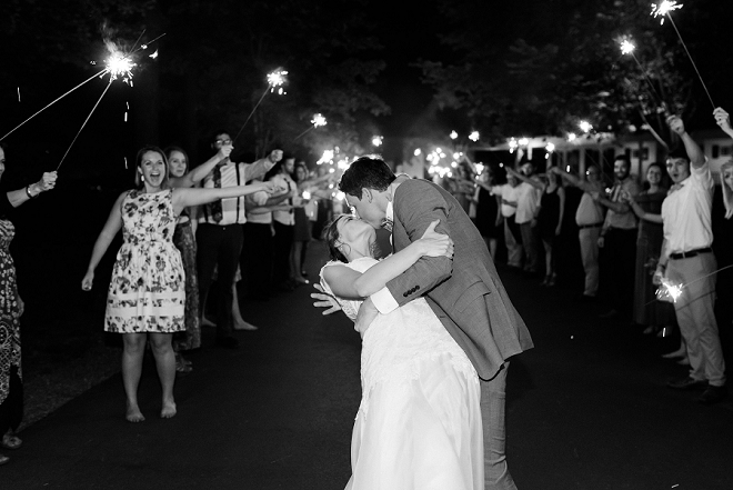 We love this final sparkler exit and kiss when the day is over!