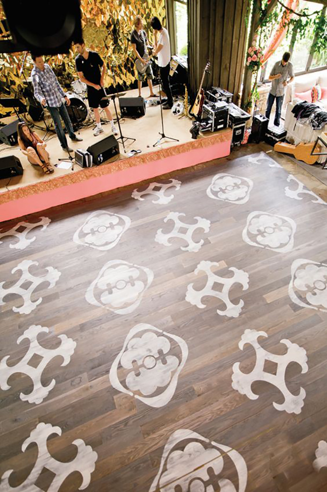 Painted dance floor is a great way to personalize.