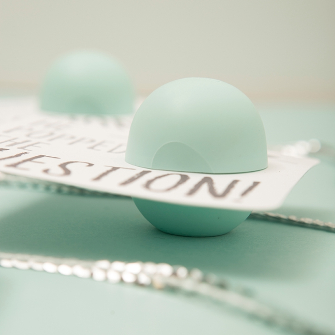 These are just the cutest DIY EOS lip balm bridal shower gifts!