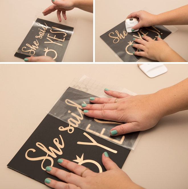 Learn how to quickly make a cute She Said Yes sign to bring along for your proposal!