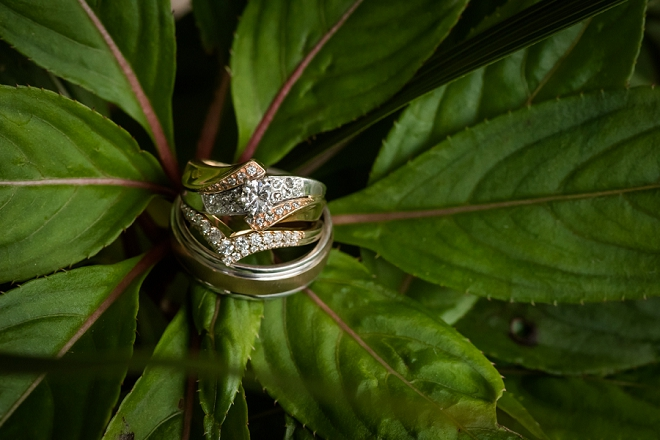 We love this couple's gorgeous ring shot!