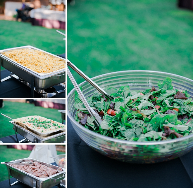This Bride's family handmade all of the food for their wedding!