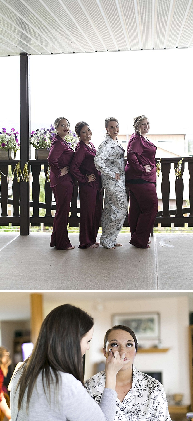 Cute snaps of the Bride and her Bridesmaid's getting ready for the big day!