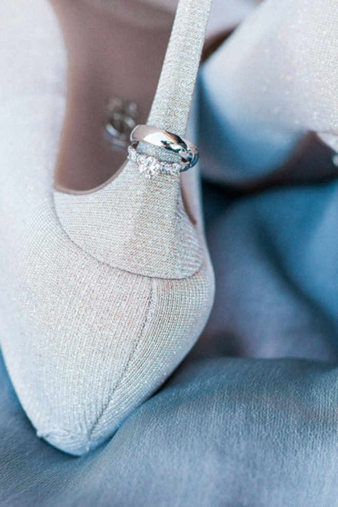 How adorable is this ring shot on the Bride's heel?! Love it!