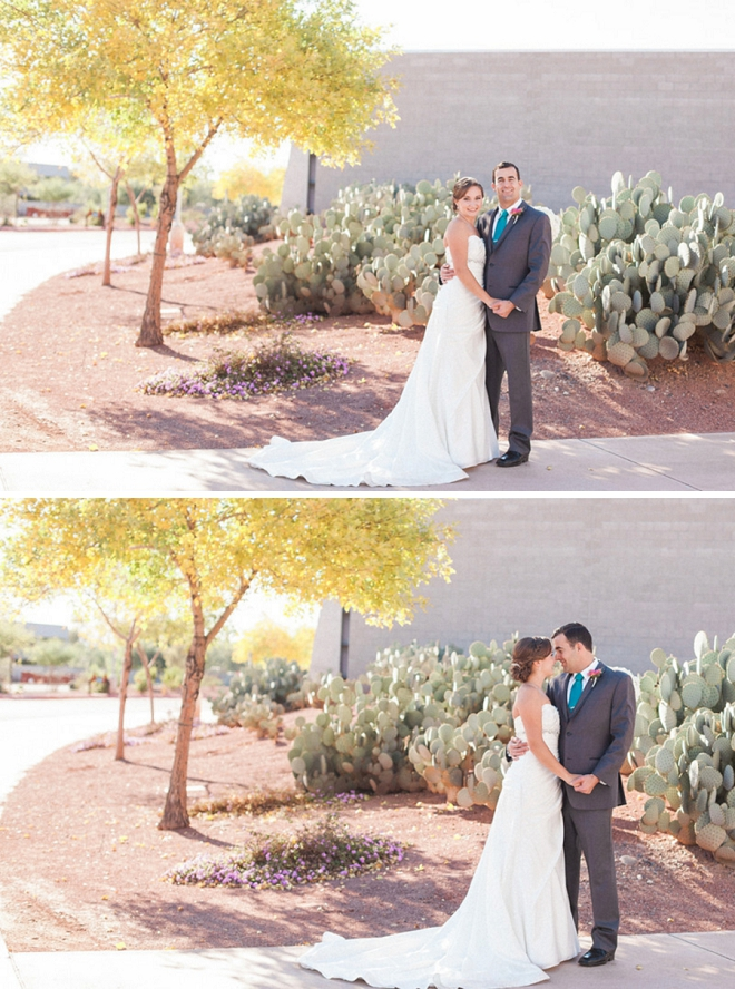 We can't get over this super in love couple and their stunning desert wedding!