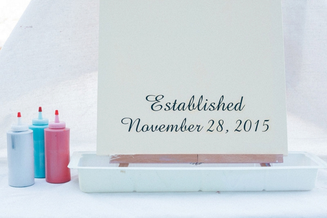 How darling is this keepsake ceremony canvas?! We love it!