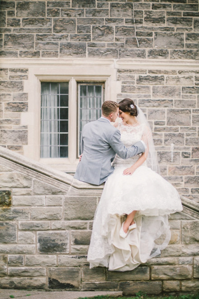 Gorgeous shot of Will and Sarah's wedding day by Julia Park Photography