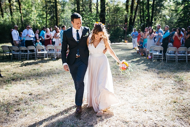 We're swooning over this dreamy forest wedding ceremony!