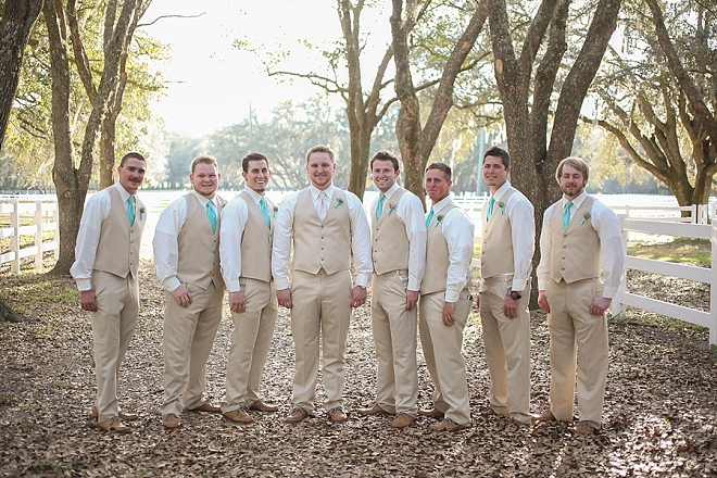 Love this snap of the Groom and Groomsmen before the ceremony!