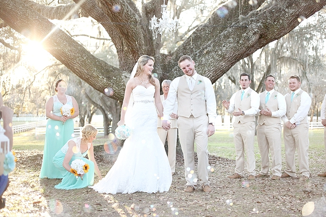 We love this stunning outdoor ceremony and the darling Bride and Groom!