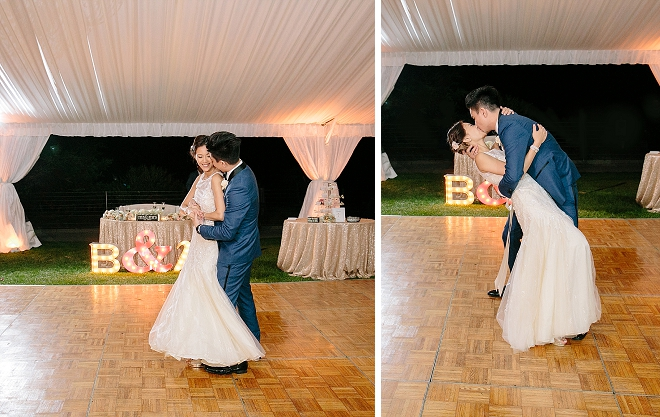 We love this couple's first dance as Mr. and Mrs!